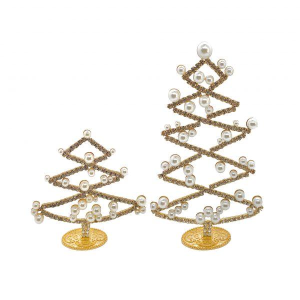 Guld juletræer