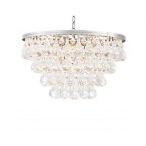 Lysekrone i sølv med krystalglas detaljer. Denne lysekrone tilføjer et helt unikt udtryk til din indretning. Baliebalie Frederiksberg