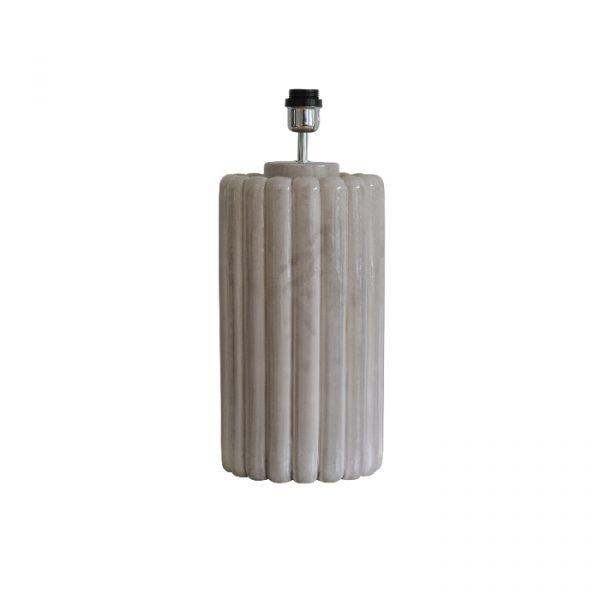 Lampefod i keramik i en flot gråbeige