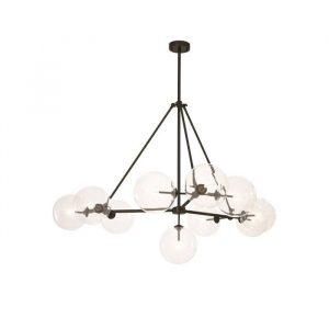 Loftlampe i højden 90 cm, som giver et varmt lys til din indretning. Loftlampen er i sort finish med glas kugler og har en diameter på 140cm. Se vores store udvalg af loftlampe hos Baliebalie på Frederiksberg.