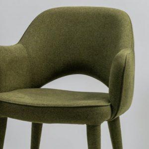 Oliven grøn spisebordstol i polyester
