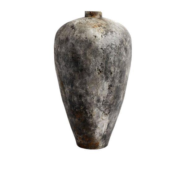 Terracotta krukke i 100cm højden i farven rustgrå