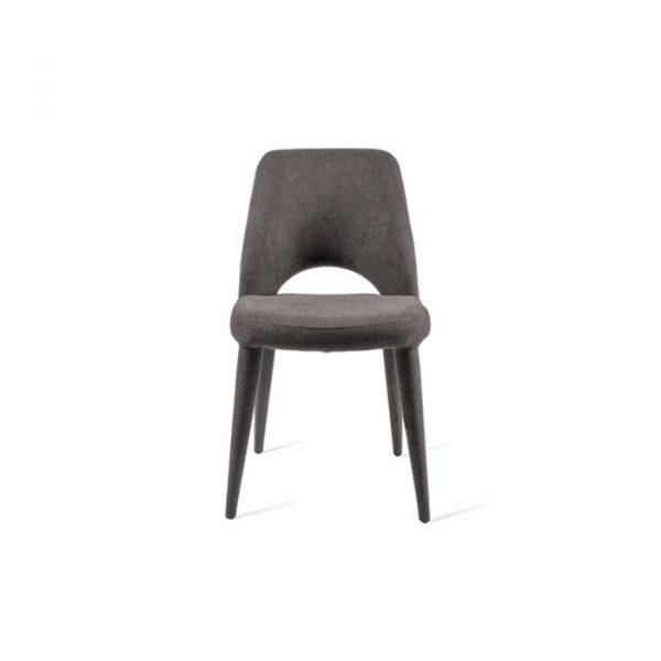 Spisebordstol i grå uden armlæn i 100% polyester